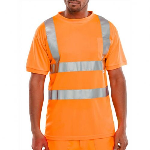 BSeen Hi Vis Orange T-Shirt